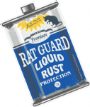 Rat Guard Liquid Rust RETRO OIL CAN Funny Design For Rat Look VW Vinyl Car sticker decal 110x70mm
